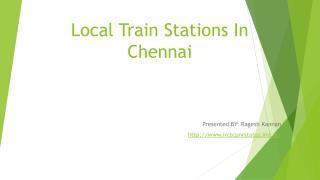 Local Train Station in Chennai