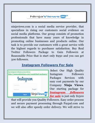 Buy Facebook Likes - ninjaviews.com