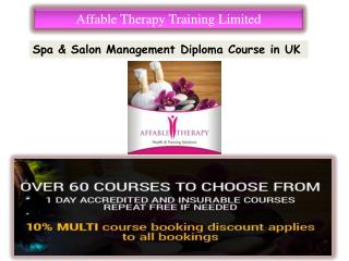 Spa & Salon Management Diploma Course in UK