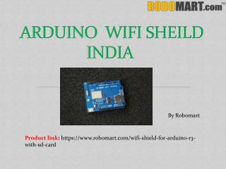 Buy Arduino Wifi Shield India By Robomart