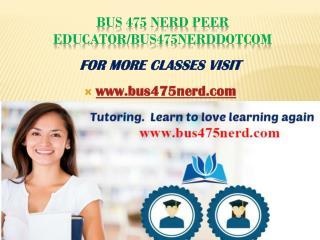 bus475nerd Peer Educator/bus475nerddotcom