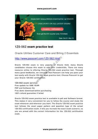 Oracle 1Z0-562 practice test