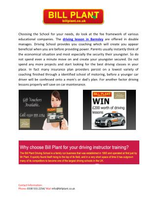Driving Lessons - It Just Makes Sense to Learn