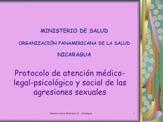 MINISTERIO DE SALUD   ORGANIZACI N PANAMERICANA DE LA SALUD  NICARAGUA