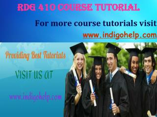 RDG 410 expert tutor indigohelp