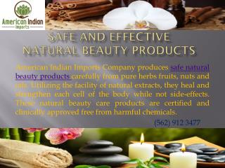 Safe and Effective Natural Beauty Products