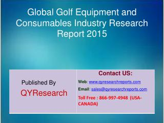 Global Golf Equipment and Consumables Market 2015 Industry Development, Research, Trends, Analysis  and Growth