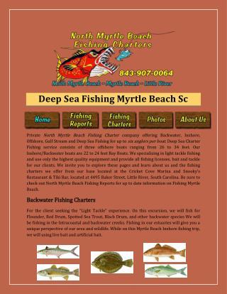 Deep Sea Fishing Myrtle Beach Sc