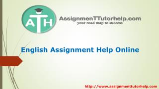 English Assignment Help Online ! ATH