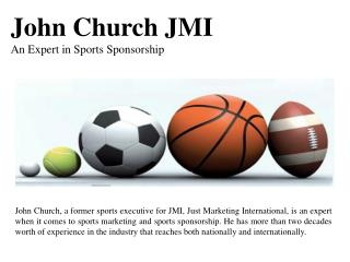 John Church JMI - An Expert in Sports Sponsorship