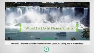 What To Do In Niagara Falls City