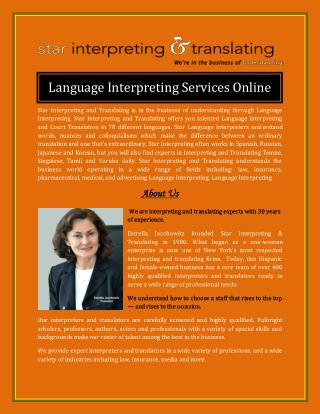 Language Interpreting Services Online