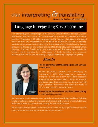 Language Interpreting Services Online