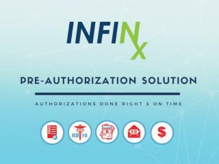 Infinx Pre-Authorization Solution