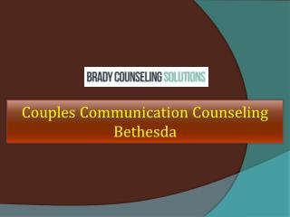 Couples Communication Counseling Bethesda