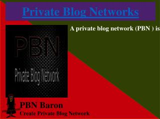 PBN BARON is Providing Best Private Blog Sites