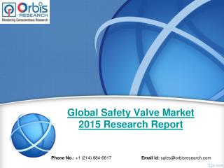 2015 Global Safety Valve  Industry 2020 Forecast Report