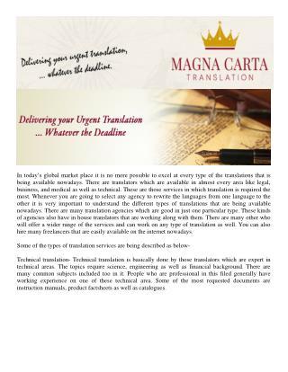 Magna Carta Translation