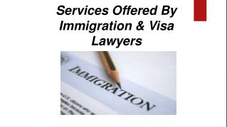 Services offered by immigration & visa lawyers