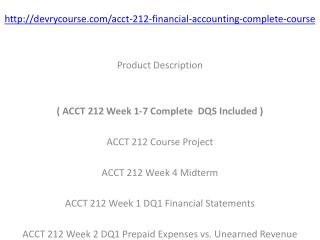 ACCT 212 All Discussions Week 1 - 7