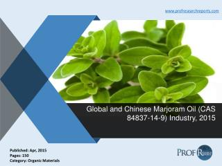 Marjoram Oil Industry Share, Market Size 2015 | Prof Research Reports