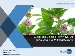 Pennyroyal Oil Industry Growth, Market Size 2015 | Prof Research Reports
