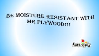 Be moisture resistant with MR Plywood!!!
