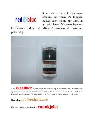 Friluftsliv vannfilter - RednBlue.No