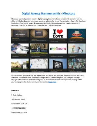 Digital Agency Hammersmith - Mindcorp