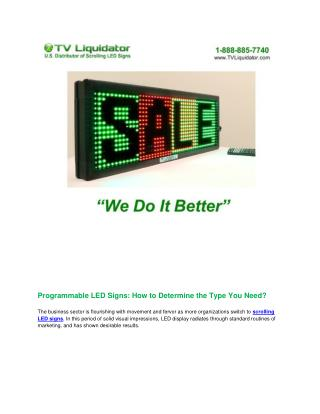 Programmable LED Signs: How to Determine the Type You Need?