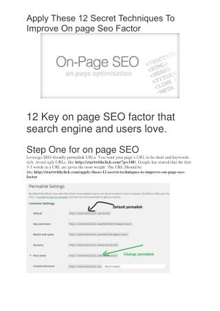 12 On page SEO Secret Techniques To Improve Rich SERP