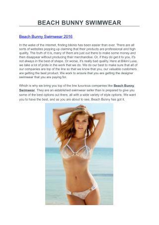 BEACH BUNNY SWIMWEAR