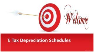E Tax Depreciation Schedules For Depreciation Specialist