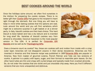 Best cookies around the world