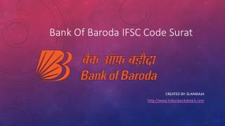 Bank Of Baroda IFSC Code Surat