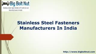 Stainless Steel Fasteners Manufacturers In India