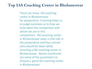 best coaching Upsc in bhubaneswar
