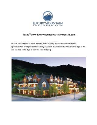 Park city resort lodging