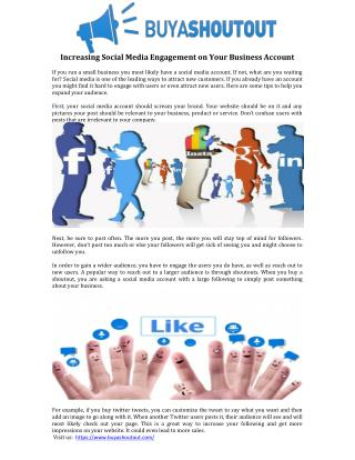 Increasing Social Media Engagement on Your Business Account