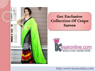 Shop Crepe Saree Online
