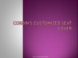 Corbin seats customized cover