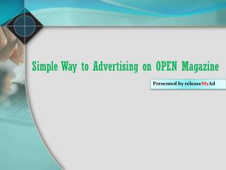 Best Advertising for Open Magazine