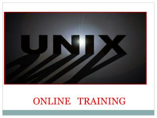 The Best  Unix  Online Training In India