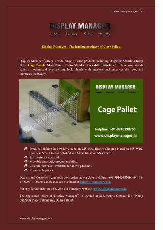 Display Manager - The leading producer of Cage Pallets