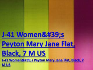 J-41 Women's Peyton Mary Jane Flat, Black, 7 M US