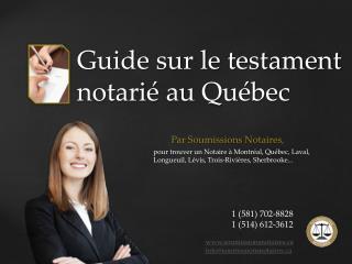 Soumissions Maison Notaires: �conomisez sur votre testament