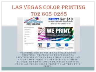 Best Color Printing Company in las vegas, nevada