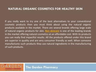 Natural Organic Cosmetics for Healthy Skin