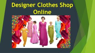 Designer Clothes Shop Online
