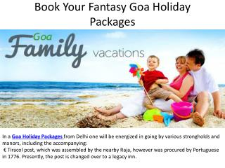 Book your fantasy goa holiday packages